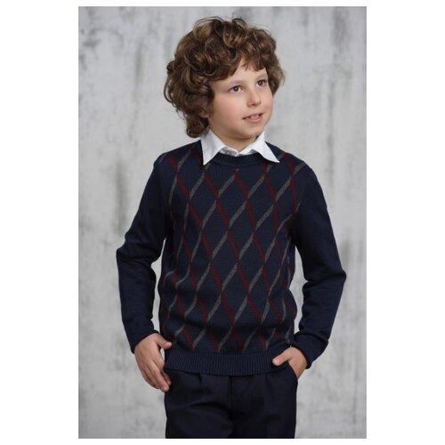 Джемпер VAY размер 152, синий/бордо/серый