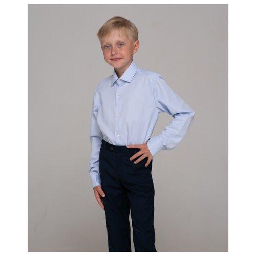 Рубашка Бренда-Люкс размер 33, светло-голубой рубашка бренда люкс размер 31 синий