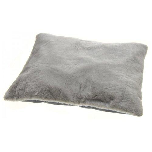 Подушка для кошек, для собак Уси Муси из искусственного меха кролика 7PET00110/7PET00111/7PET00112/7PET00113 55х45х10 см серый
