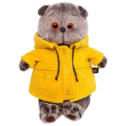 Купить Мягкая игрушка Basik&Co Кот Басик в желтой куртке B&Co 22 см, Мягкие игрушки
