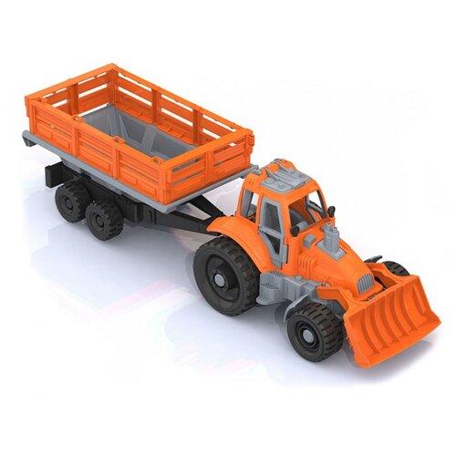 Трактор Нордпласт с грейдером и прицепом (397)