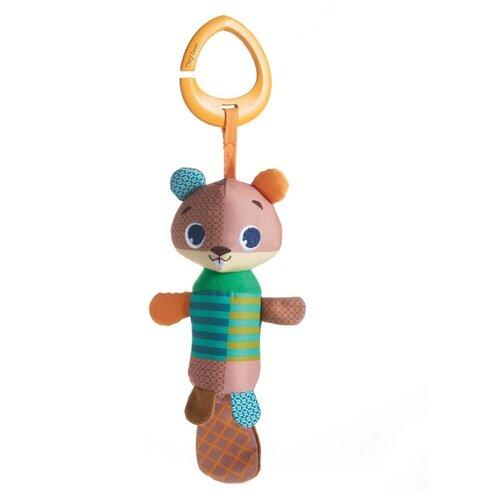Подвесная игрушка Tiny Love колокольчик Бобрик (11144011100) коричневый/зеленый игрушка жираф tiny love