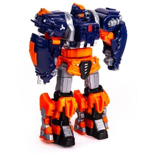 Трансформер YOUNG TOYS Metalions Auto Changer Hurricane оранжевый/синий/серый трансформер young toys metalions ursa серый