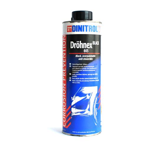 Жидкий антигравий DINITROL Drohnex 440/445 черный 1 л банка 1 кг