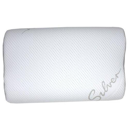 SLEEP DELIVERY Подушка волна с эффектом памяти Серебро с сеткой 40*60см
