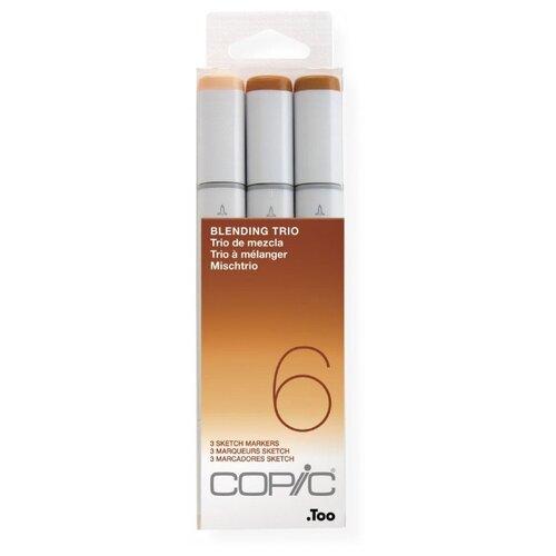 Купить COPIC набор маркеров Sketch Blending Trio 6 (H21075636), 3 шт., Фломастеры