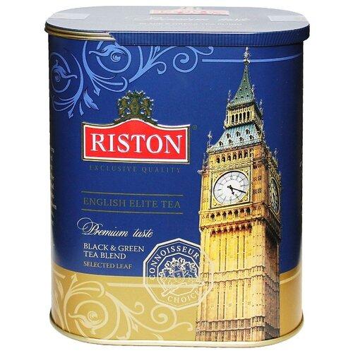 Чай Riston English elite tea, смесь зеленого и черного чая, 100 г hilltop чайные истории набор черного и зеленого листового чая шкатулка