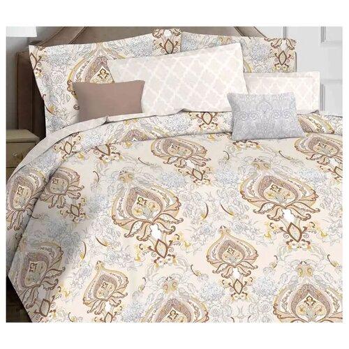 цена Постельное белье 2-спальное Mona Liza Antigue brass, сатин коричневый/серый онлайн в 2017 году