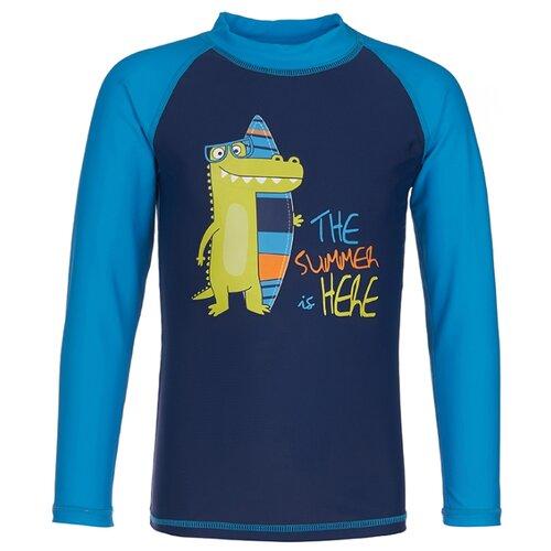 Пляжная футболка Oldos размер 86, темно-синий/голубой футболка для плавания oldos размер 116 темно синий голубой