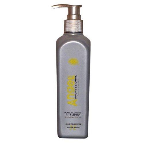Angel Professional шампунь Pearl Glossing для седых и блондинистых волос 500 мл с дозатором