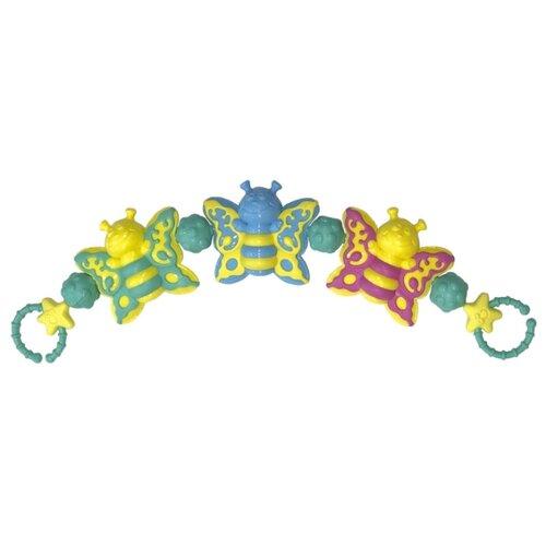 Купить Растяжка Нордпласт Бабочки (Н578) желтый/зеленый/голубой, Подвески