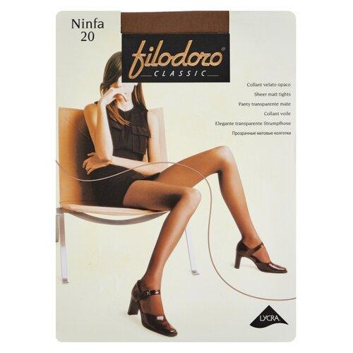 Колготки Filodoro Classic Ninfa 20 den, размер 3-M, glace (коричневый) колготки filodoro classic dora 20 den размер 3 m glace коричневый