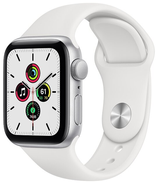 Умные часы Apple Watch SE GPS 40mm Aluminum Case with Sport Band — цены на Яндекс.Маркете
