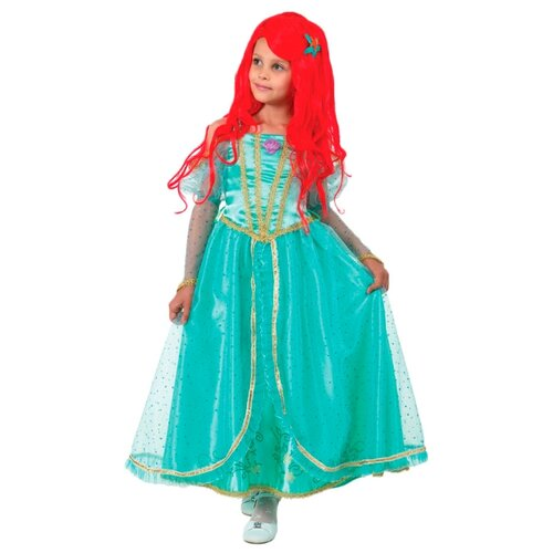 Купить Костюм Батик Принцесса Ариель (7061), бирюзовый, размер 134, Карнавальные костюмы