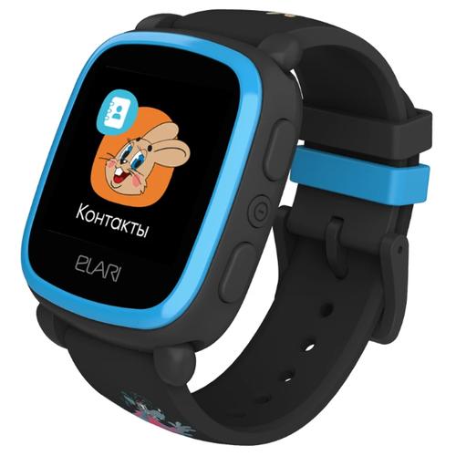 Детские умные часы ELARI KidPhone «Ну, Погоди!», синий/черный недорого