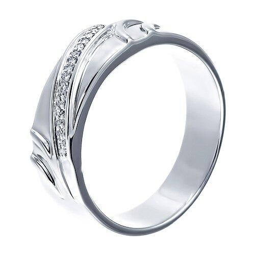 цена на JV Кольцо с бриллиантами из серебра 43814S-WG, размер 19.5
