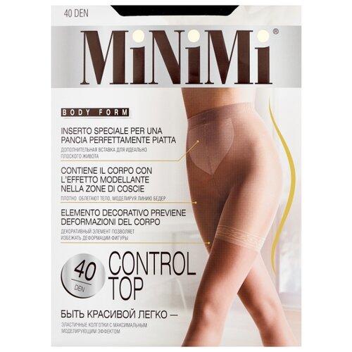 Колготки MiNiMi Control Top 40 den, размер 2-S/M, nero (черный) колготки minimi control top 40 den размер 2 s m nero черный