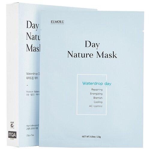 ELMOLU Waterdrop day Day nature mask тканевая увлажняющая маска, 23 г, 7 шт. elmolu тканевая маска наполняющая энергией day nature mask energizing day 23 г 7 шт