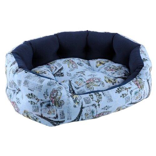 Лежак для собак и кошек Fauna International Paris 62х46х18 см blue