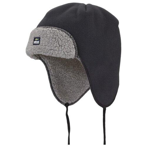 Купить Шапка-ушанка Satila размер 58, черный/серый, Головные уборы