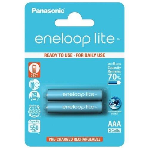 Фото - Аккумулятор Ni-Mh 550 мА·ч Panasonic eneloop lite AAA 2 шт блистер panasonic аlkaline power aaa lr03 2 шт