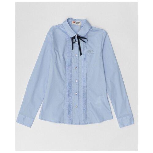 Купить Блузка Button Blue размер 122, голубой, Рубашки и блузы