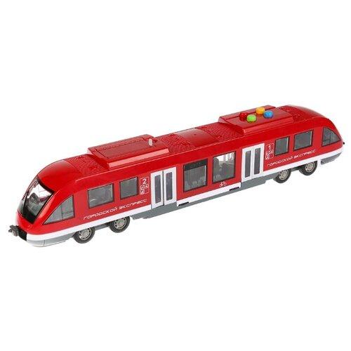 цена на Трамвай ТЕХНОПАРК Городской экспресс (8033-1R) 45 см красный/серый