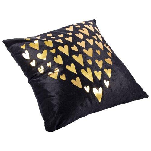 Чехол для подушки Русские подарки 76313, 45 х 45 см черный/золотой