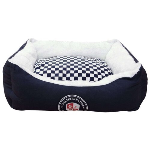 Лежак для собак и кошек Fauna International Chess M 60х50х21.5 см темно-синий