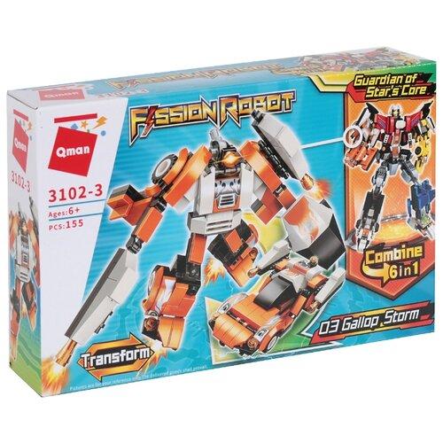 Конструктор Qman Fission Robot 3102-3 Робот-трансформер Шторм