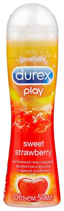 Гель-смазка Durex Play Sweet Strawberry с ароматом сладкой клубники