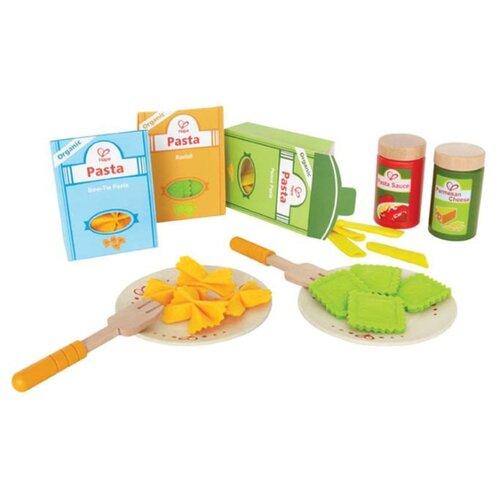 Купить Набор продуктов с посудой Hape Pasta set E3125 разноцветный, Игрушечная еда и посуда