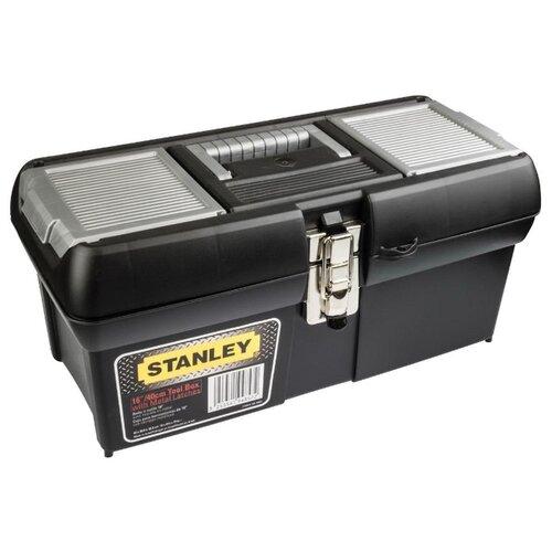 Ящик с органайзером STANLEY FatMax 1-94-857 40x20.9x18.3 см 16'' черный/серый ящик с органайзером stanley jumbo 1 92 906 27 6x48 6x23 2 см черный желтый