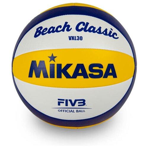 Волейбольный мяч Mikasa VXL30 желтый/синий/белый цена 2017