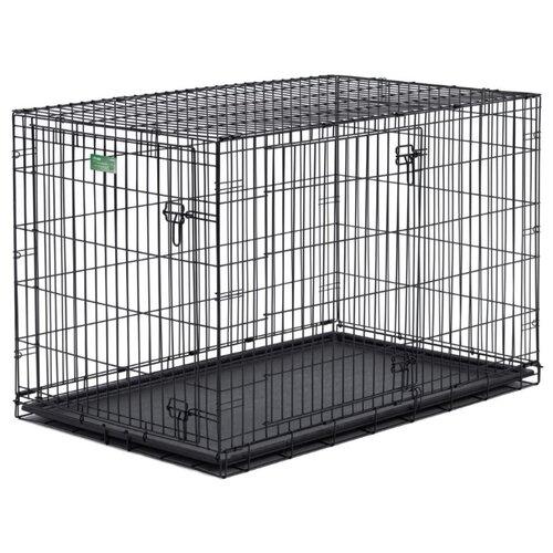 Клетка для собак Midwest iCrate 1530DD 76х48х53 см черный