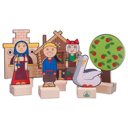 Краснокамская игрушка Кукольный театр из дерева Гуси-лебеди (Н-64) краснокамская игрушка кукольный театр из дерева репка н 19