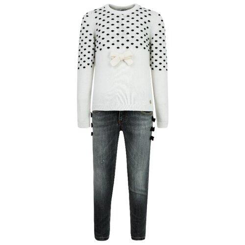 Купить Комплект одежды Simonetta размер 152, кремовый/синий, Комплекты и форма