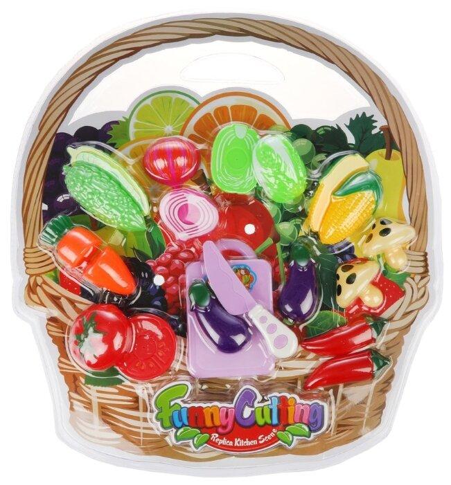 Набор продуктов с посудой Наша игрушка Овощи NF357-L4