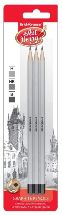 ErichKrause Набор чернографитных шестигранных карандашей ArtBerry 3 шт (45390)