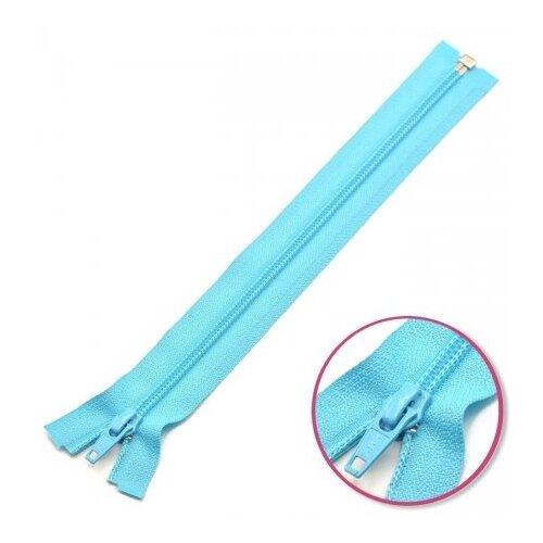 YKK Молния витая разъёмная 0004706/75, 75 см, голубой лед/голубой лед