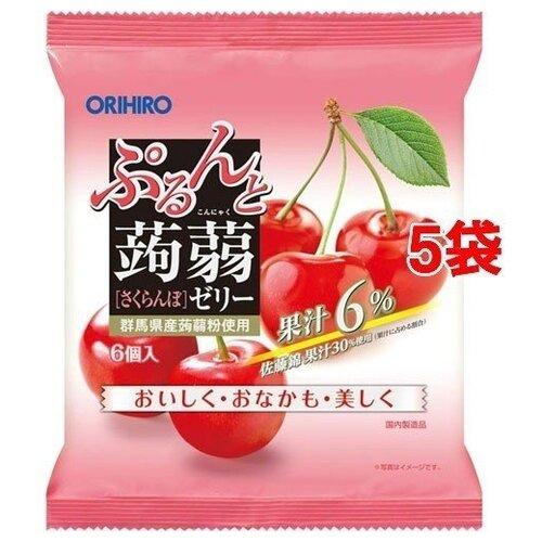 Желе Orihiro из конняку Вишня 0%, 6 шт.