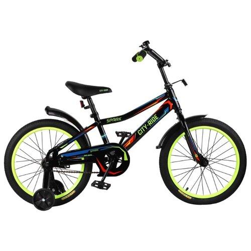 цена на Детский велосипед CITY-RIDE Spark 18 (CR-B2-0218) черный (требует финальной сборки)