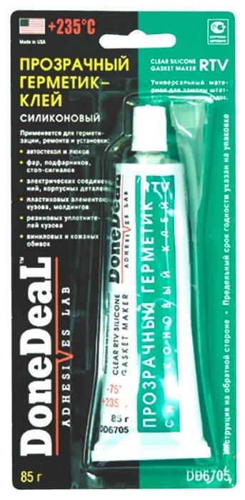 Donedeal 6705 Клей-герметик прозрачный для стекол и фар (85г) dd6705