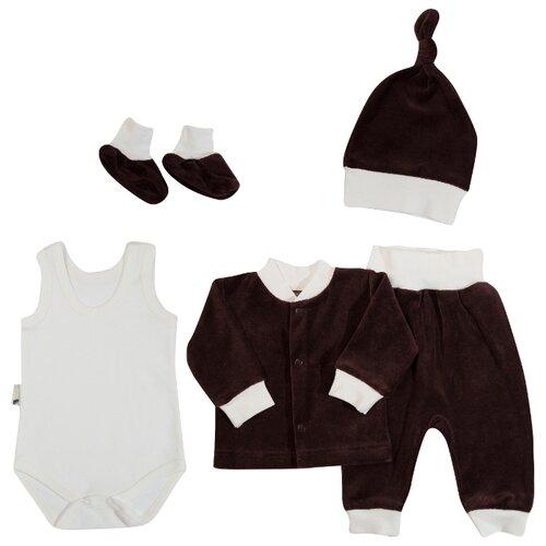 Купить Комплект одежды Клякса размер 22-68, коричневый, Комплекты