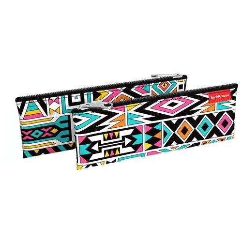 Купить ErichKrause Пенал-конверт Ornament (49034) черный/белый/розовый, Пеналы