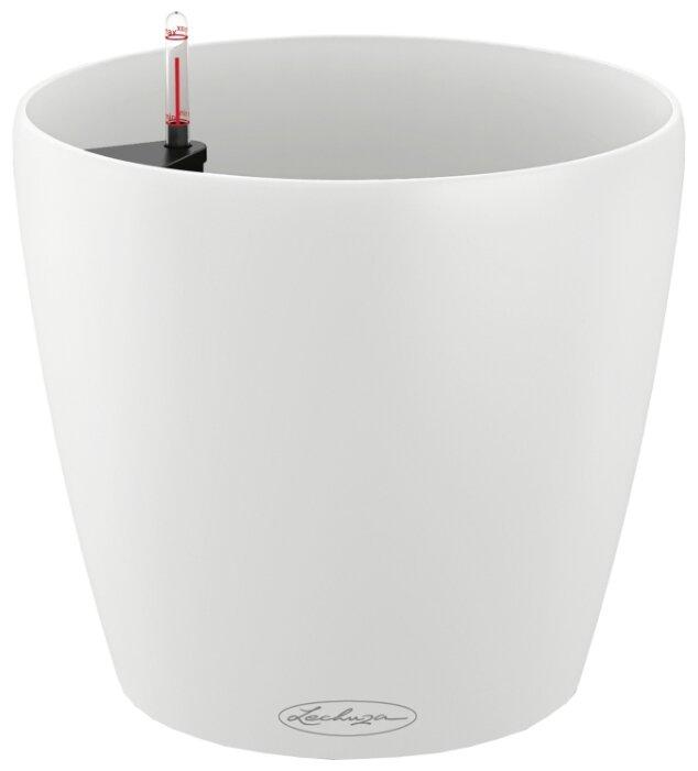 Кашпо LECHUZA CLASSICO Color 21 настольное с автополивом с субстратом в комплекте 21.5х20.5 см