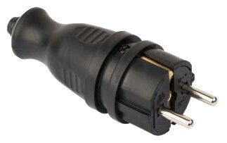 Вилка силовая (CEE) кабельная переносная EKF RPS-011-16-230-44-r