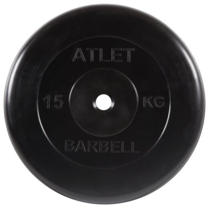 Диск MB Barbell MB-AtletB26 15 кг черный