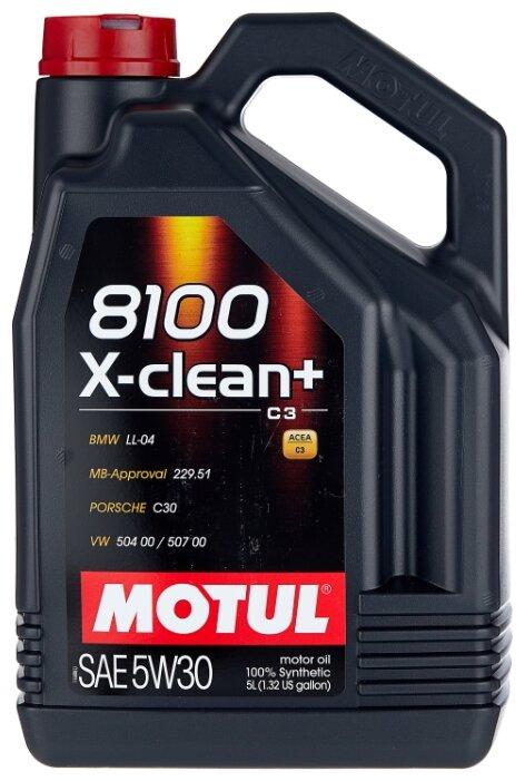 Моторное масло Motul 8100 X-clean+ 5W30 5 л — купить по выгодной цене на Яндекс.Маркете