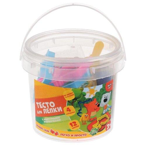 Купить Масса для лепки MultiArt Мимимишки 12 цветов с 3 формочками (250MOLD-MIMI), Пластилин и масса для лепки
